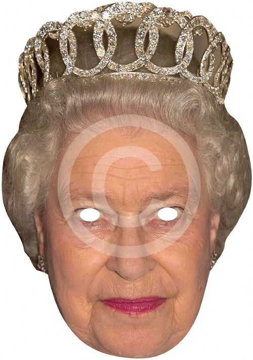 H M Queen Card Face Mask Royal Regal Ruler Leader Party Decoration